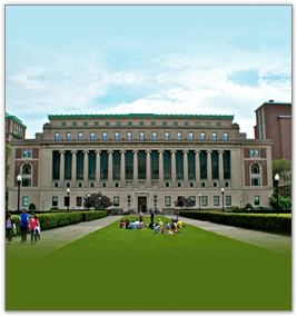 butler library with lawn in front