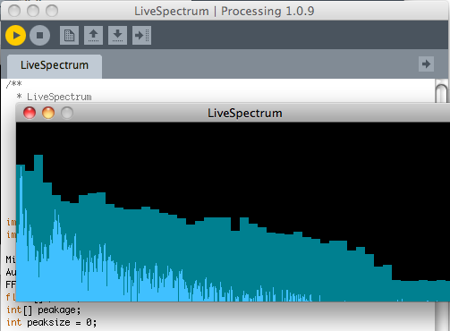 audio processing in processing