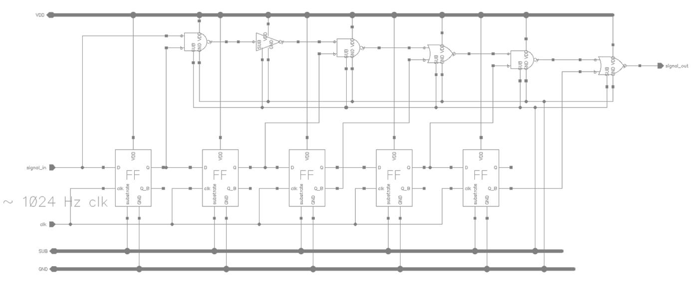 Ic Layout 7 Segment Logic Diagram 13 Debouncer Schematic